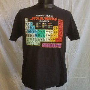 Star Wars Periodic Table of Elements Graphic Tee M